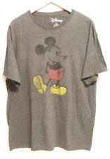 Disney Mickey Mouse XL Gray Retro Vintage Style Distressed T Shirt