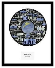 MICHAEL JACKSON - MEMORABILIA - BILLIE JEAN - VINYL RECORD LYRIC ART - Ltd Ed.