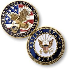 """Let's Roll"" Challenge Coin Operation Enduring Freedom Navy Seal USN Afghanistan"
