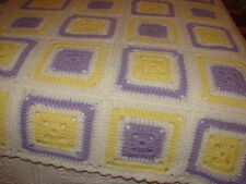 Handmade Handcrafted Crochet Afghan Throw Blanket ~ nice granny square pattern