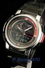 CASIO Black Digital Analog Thermometer Mens Watch AQF-102W-1B 100% NEW