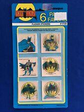 1982 Batman Pack of (6) Party Favors Flicker Stickers MOC by Unique