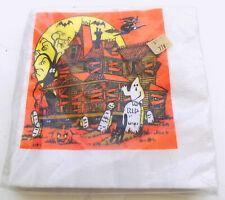 """Vintage Halloween Luncheon Napkins 18 13 x 13 3/8"""" Artfaire Unopened Package"""