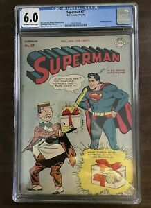 Superman #37 (1945) CGC 6.0 - Early Vintage Classic Superman - Investment Grade!