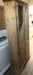 Ducal antique pine display cabinet