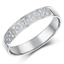 9ct White Gold Diamond Wedding Ring 4mm 28point Diamond Wedding Ring Band