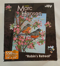 "Wild Wings The Art Of Marc Hanson 500 Piece Puzzle ""Robins Retreat"" New 18 x 24"