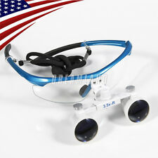 Dental Surgical Medical Binocular Loupes 3.5X Optical Glass for Dentist BLUE HY7