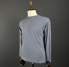 Men Lacoste Izod Striped Crew Neck Long Sleeve Jumper Pullover Size S
