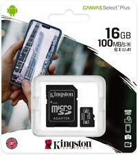 Kingston Canvas Select 16GB Micro SD Card Class10 microSDHC UHS-I Flash Memory