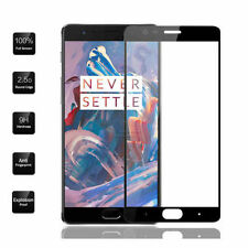 OnePlus 3- 3T Tempered Glass 2.5D Curved Edges full Glass in BLACK Color