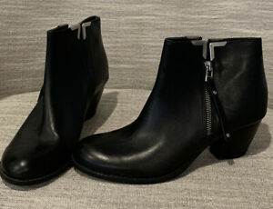 Carvela Kurt Geiger Leather Ankle Boots Size 40 - Never Worn - Made In Italy