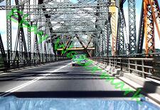 Pont de Québec Steel Bridge Old Cars 58 Chevy Canada 1959 Kodak 35mm Slide