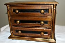 Schmid Vintage Musical #164 Romeo Juliet Japan Wood Jewelry Box Chest 3 Drawer