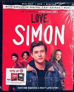 LOVE, SIMON - Blu-ray + DVD + Digital + Slipcover - Target Exclusive - NEW