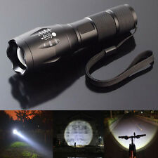 8000LM Tactics Zoomable XML T6 Military LED Flashlight Focus Torch Lamp Light