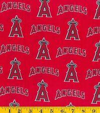 "MLB Anaheim Angels 100% Cotton Fabric 1/4 Yard (9x44"") NEW Perfect For DIY Mask"