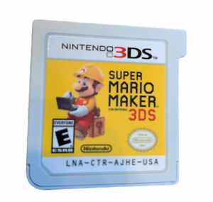 Nintendo Super mario maker 3ds game Only Excellent Tested Working