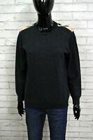 Maglione Grigio Donna BURBERRY BRIT L Pullover Maglia Sweater Man Pull femme