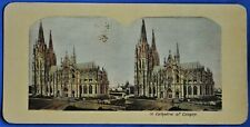 Cathedral of Cologne Germany Colored Antique Stereoview