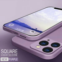 Phone Case For iPhone 11 Pro Max XS XR 8 7 6S Square Liquid Silicone Soft Cover