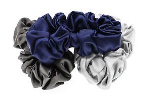 Slip Silk Large Scrunchies 3 Pack - Midnight NEW Damaged Box