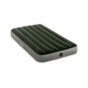 Intex 64763E Standard Dura Beam Downy Air Mattress Bed w/ Built In Pump, Queen