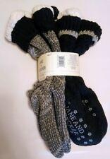 2 Pair Jane and Bleecker Slipper Socks, Ladies (Shoe Size 4-10).