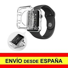 Funda Silicona APPLE WATCH 38 mm Serie 2 Carcasa Transparente TPU ¡España! a2547