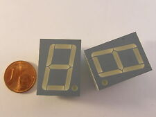 """2 pezzi 20,32mm (0,8"""") 7-Segment Display Kingbright sc08-21gwa, verde, Gem. Kath."""