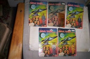 Lot of 5 Star Trek Mego Action Figures 1979 SEALED WITH CARD
