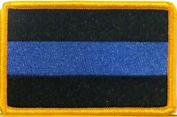 Thin Blue Line Police Fallen Morale Flag Patch with VELCRO® Brand Fastener #8