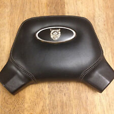 1991 Genuine Jaguar XJ6 Black Leather Horn Cover / Pad OEM ** Fast Shipping!
