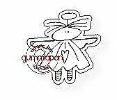 Gummiapan Stanzschablone D170529 - Engel Elfe Flügel Gittan Fee Himmel Fantasie