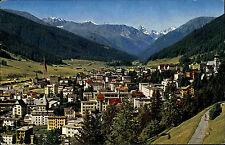 Davos Graubünden Schweiz s/w AK 1965 gelaufen Blick von der Höhen Promenade