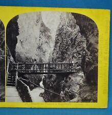 1860s Suisse Stereoview 58 Gorge De Trient A Martigny Alpine Club W England