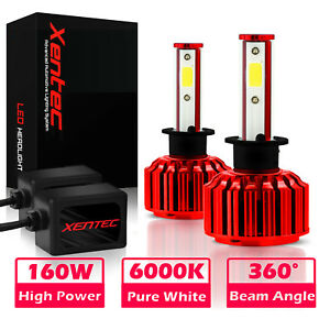 Xentec 9007 HB5 LED Light Bulbs Kit for Car Headlight High and Low 400W 80000LM