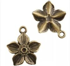 Antique Bronze Tone Rose Flower Charms Pendant Jewellery Making-22x18mm/10 Pcs
