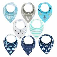 Baby Bandana Dribble Bibs Drool Bibs for Drooling and Teething 8 Pack Super Soft
