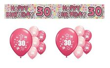 30th BIRTHDAY PARTY PACK DECORATIONS BANNER BALLOONS (EX.P.2)