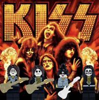 Kiss Custom Designed Mini figures American Rock Band Fits Brands Blocks