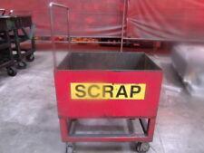 Metal Scrap Cart Wagon on Casters