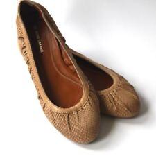 Hugo Boss Orange Women's Beige Nude Snake Skin Pattern Leather Flats Shoes 37