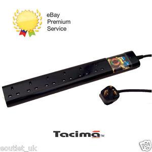 Tacima CS947 6 Way UK Mains Conditioner Surge Protection Interference Filter 2M
