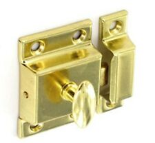 Securit Cupboard Turn Brass Plated 50mm Lock Latch Door Cupboard 8E