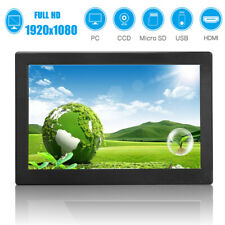 12 Zoll IPS 1920x1080 Security Monitor Bildschirm HDMI/USB/VGA Lautsprecher DE