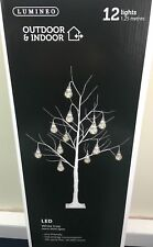 Vintage Christmas Tree Led Prelighted Silver Birch Warm White Outdoor Indoor
