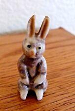 "Vintage Porcelain Miniature Tiny Rabbit figurine 1.5"""