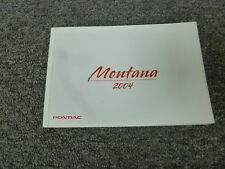 2004 Pontiac Montana Minivan Owner Owner's Manual User Guide 3.4L V6