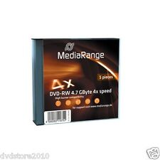 5 MediaRange DVD -RW 4,7 GB 4x Slim case rw Speed Gbyte Custodia MR448